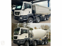 Camião MAN TGS 41.430 8x4 WECHSELSYSTEM KIPPER+MISCHER betão betoneira / Misturador usado