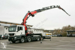 Lastbil platta häckar MAN TGS TGS 35510 8X2 FASSI F820RA.2.27 + Jib