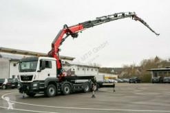 Camión MAN TGS 35510 8X2 FASSI F820RA.2.27 + Jib caja abierta teleros usado