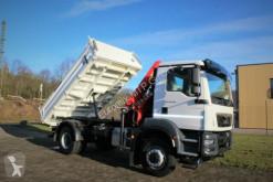 Camion MAN TGM TGM 18.320 4x4 Euro6d Hiab X-HiDuo 138DS-3 benă trilaterala second-hand