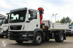 MAN three-way side tipper truck TGM TGM 18.320 4x2 Euro6d Hiab X-HiDuo 138DS-3