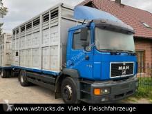 MAN 19.343 19.343 mit Lafaro Doppelstock wenig Kilometer ремарке за превоз на животни втора употреба