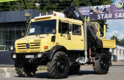Camião Unimog U 5000 4x4 HIAB 166 E4 HiDuo OFF ROAD Kran CRAN estrado / caixa aberta caixa aberta usado