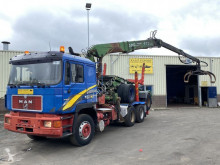 MAN 26.502 Forest Truck Logilift 210 Full Spring Good Condition truck used flatbed