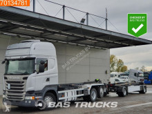 Lastbil med släp containertransport Scania R 450