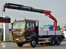 Camion plateau MAN TGS 33.400/ 6X4/ BOX + CRANE PALFINGER 14002/17M