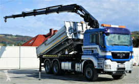 Camion MAN TGS 33.480 Kipper 5,10 m + Kran + FUNK*6x4! plateau occasion