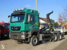 Camión Gancho portacontenedor MAN TGS TG-S 26.540 6x6 Abrollkipper Schalter, Meiller