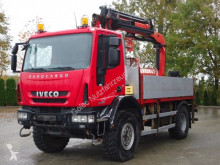 Camión Iveco Eurocargo 150E25 4x4 Pritsche mit Kran Palfinger caja abierta teleros usado