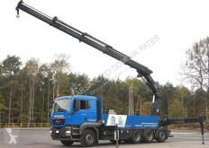 Camión MAN 35.480 TGS HIAB 477 E4 EURO 5 HIPRO Kran caja abierta usado