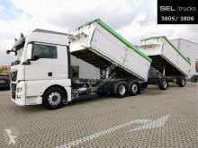 Lastbil med släp flak spannmål MAN TGX TGX 26.440 6x2-4 BL/2 Seiten/Lenkachse/Komplett