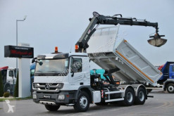 Camion Mercedes ACTROS 2636/6X4/TIPPER+CRANE HIAB 166/RADIO plateau occasion