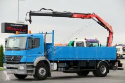 Ciężarówka platforma Mercedes AXOR 1828 / 4X2 / BOX L: 6,2 M+CRANE FASSI F110