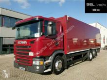 Camião Scania G 320/ Lift-Lenkachse/ Ladebordw./ NAVI/ Kamera estrado / caixa aberta porta bebidas usado