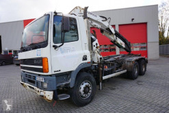 Camion DAF 85CF-400 ATI / / FULL STEEL / / 30 TM CRANE / 1998 plateau accidenté