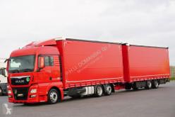 Camion MAN TGX / 24.440 / ACC / E 6 / RETARDER / ZESTAW PRZ + remorque rideaux coulissants rideaux coulissants (plsc) occasion