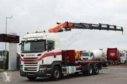 Camión caja abierta Scania R 440 / 6X2/BOX - 7 M + PALFINGER PK50002/RADIO