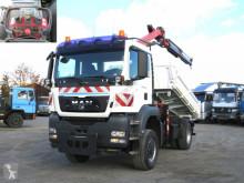 Camion benă MAN TG-S 18.360 4x4 BL 2-Achs Allradkipper Kran Funk
