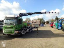 Camion platformă si obloane Scania P320 Pritsche mit HMF2420 6xhydr 6x2 Lenk-Lift