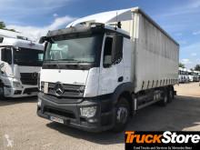 Mercedes ponyvával felszerelt plató teherautó Actros 2536NL