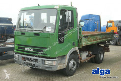 Iveco three-way side tipper truck 80E15 4x2, 3. Sitz, Maul-AHK, Kugelkopf-AHK,