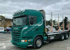 Teherautó Scania R480 Holztransporter Euro 5 Kesla m. Menke -Janzen Exte (45) használt