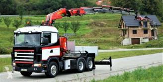 Camion Scania R124 Pritsche 3,15m +Kran+JIB/FUNK *6x4* platformă second-hand