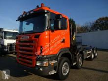 Camião estrado / caixa aberta Scania R500 Abrollkipper+HMF 1643Z2 Funk
