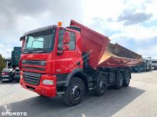 Camião basculante DAF CF 85 410 8x4 // WYWROT NA BOK I TYŁ // HYDROBURTA // SUPER STAN //