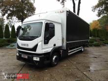 Lastbil Iveco EUROCARGO120-250 PLANDEKA WINDA 18 PALET WEBASTO KLIMA TEMPOMAT skjutbara ridåer (flexibla skjutbara sidoväggar) begagnad
