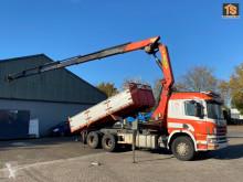 Scania tipper truck 124.400 Kipper crane pk35000 remote - -