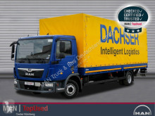 Camión MAN TGL 12.220 4X2 BL Dachser-Beschriftung, AHK, Klima lona corredera (tautliner) usado