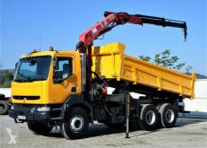 Vrachtwagen Renault KERAX 300 DCI Kipper 4,60m+Kran*6x4 Topzustand! tweedehands platte bak