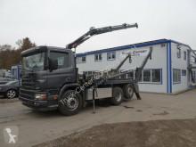 Camión volquete Scania P114 L 340 6x2 Absetzer + Hiab Kran