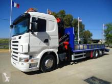 Camião Scania porta máquinas usado