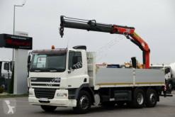 Camião estrado / caixa aberta DAF CF 85.380 /6X2/BOX-6,5M+CRANE PALFINGER PK15500/