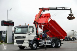 Camión caja abierta DAF CF 85.410/6X4/ 2 SIDED KIPPER+CRANE PALFINGER 16