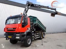 Camion platformă Iveco AW 380T41 Kipper E5, Hiab 14TM Kraan, Crane, Kran