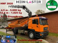 Camión volquete trilateral MAN 19.414 HMF Kran 12,4 m - 1.825 kg FB