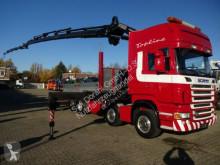 Camion plateau ridelles Scania R R500 Pritsche mit FASSI 600 Jib Seilwinde