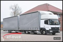 Lastbil med släp flexibla skjutbara sidoväggar Mercedes Atego 823 Orten Jumbo Komplettzug,
