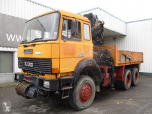 Camion platformă Iveco MD 260-30 AHW , V8 , HIAB Crane 190A , Front wrinch , full spring suspension ,