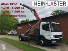 Camion dublu Mercedes 1224 Meiller Abroller +Atlas 101.1 - 7,3 m 1.4 t