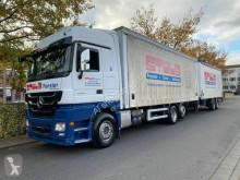Lastbil med släp flexibla skjutbara sidoväggar Mercedes Actros Actros 2546 Mit Anhänger Voll Ausstattung Top !!