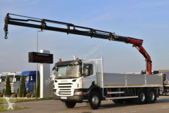 Camión Scania P 340 / 6X4 / BOX -7,5 M + CRANE PALFINGER 16502 caja abierta usado