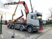 Scania 144G-530 V8 + PALFINGER PK29002 5x - RADIO truck used hook arm system