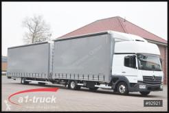 Lastbil med släp Mercedes Atego 823 Orten Jumbo Komplettzug, flexibla skjutbara sidoväggar begagnad