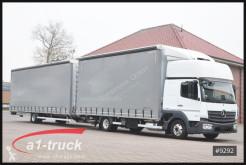 Vrachtwagen met aanhanger met huifzeil Mercedes Atego 823 Orten Jumbo Komplettzug,
