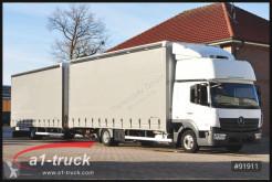 Camião reboque caixa aberta com lona Mercedes Atego 823 Atego, Jumbo, Automatik Komplettzug
