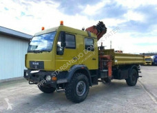 Camião MAN 18.280 4x4 ATLAS TEREX 165 .2E A4 Cran Kran DOKA estrado / caixa aberta usado